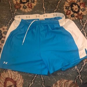 Blue Under Armour athletic shorts
